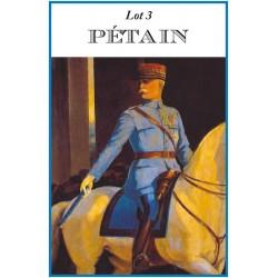 """Lot 3 """"Pétain"""""""